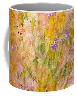Coffee Mug featuring the painting Spring Meadow by Claire Bull