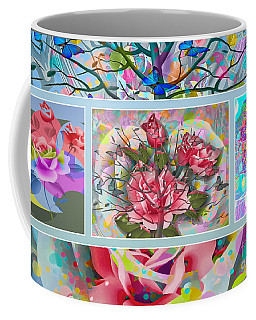 Coffee Mug featuring the digital art Spring Medley by Eleni Mac Synodinos