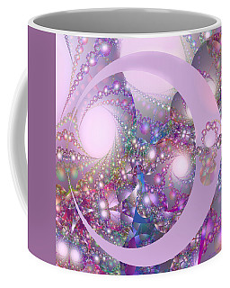 Spring Moon Bubble Fractal Coffee Mug