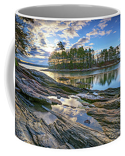 Spring Morning At Wolfe's Neck Woods Coffee Mug by Rick Berk