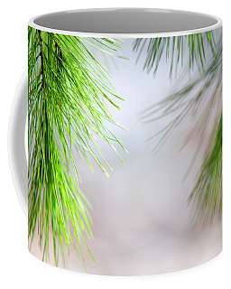 Coffee Mug featuring the photograph Spring Pine Abstract by Christina Rollo
