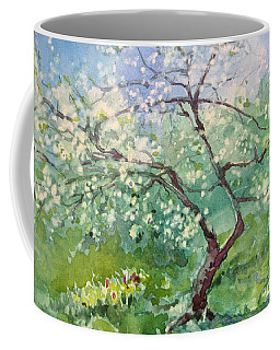 Coffee Mug featuring the painting Spring Plum by Elizabeth Carr