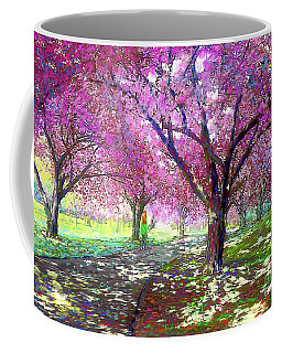 Spring Rhapsody, Happiness And Cherry Blossom Trees Coffee Mug