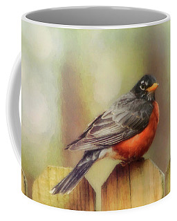 Coffee Mug featuring the photograph Spring Robin  by Ola Allen