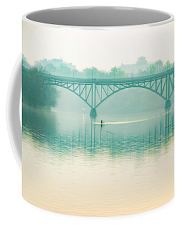 Coffee Mug featuring the photograph Spring - Rowing Under The Strawberry Mansion Bridge by Bill Cannon