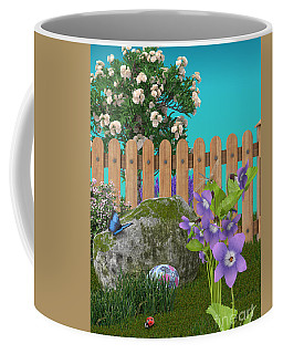 Coffee Mug featuring the digital art Spring Scene by Mary Machare