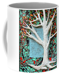 Coffee Mug featuring the painting Spring Serenade With Tree by Genevieve Esson