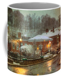 Spring Snow In Peterborough Nh Coffee Mug by Joann Vitali