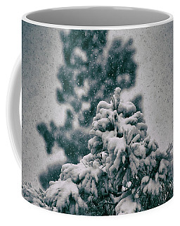 Spring Snowstorm On The Treetops Coffee Mug