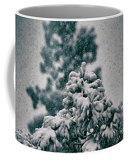 Coffee Mug featuring the photograph Spring Snowstorm On The Treetops by Jason Coward