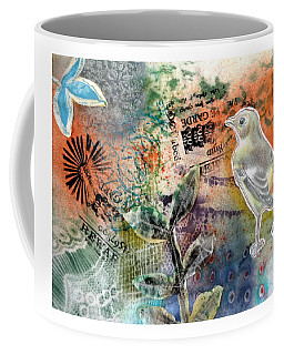 Coffee Mug featuring the mixed media Spring Song by Rose Legge