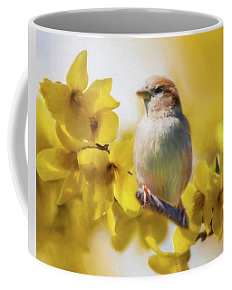 Spring Sparrow Coffee Mug
