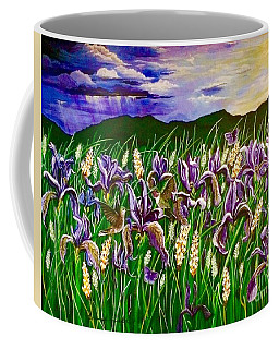 Spring Storm  Iris Fields Coffee Mug by Jennifer Lake