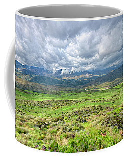 Spring Storm Moving Over The Bradshaw Coffee Mug by Charles Ables