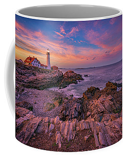 Spring Sunset At Portland Head Lighthouse Coffee Mug by Rick Berk