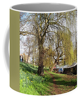 Spring Sunshine On Cambridge Riverbank Coffee Mug by Gill Billington