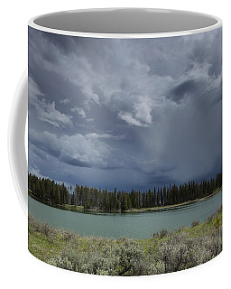 Spring Thunderstorm At Yellowstone Coffee Mug