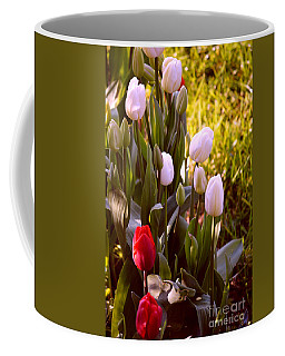 Coffee Mug featuring the photograph Spring Time Tulips by Susanne Van Hulst