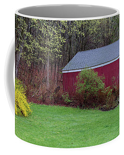 Coffee Mug featuring the photograph Spring Tobacco Barn by Bill Wakeley