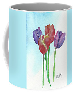 Coffee Mug featuring the painting Spring Tulips by Betsy Hackett