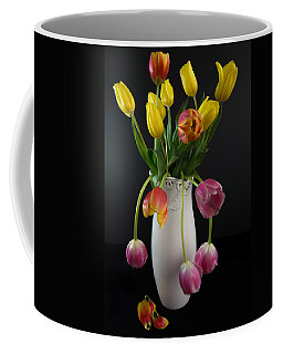 Spring Tulips In Vase Coffee Mug