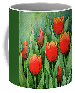 Spring Tulips Coffee Mug by Rebecca Davis