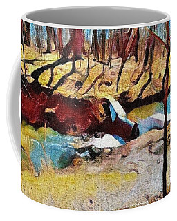 Spring Waterfall Coffee Mug by Kathie Chicoine
