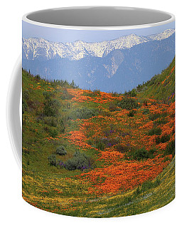 Spring Wildflower Display At Diamond Lake In California Coffee Mug by Jetson Nguyen