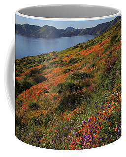 Spring Wildflower Season At Diamond Lake In California Coffee Mug by Jetson Nguyen