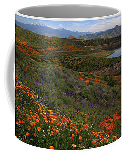 Spring Wildflowers At Diamond Lake In California Coffee Mug by Jetson Nguyen