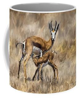 Springbok Mom And Calf Coffee Mug