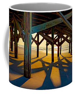 Springmaid Pier At Sunrise Coffee Mug