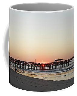 Springmaid Pier Sunrise Coffee Mug by Gordon Mooneyhan
