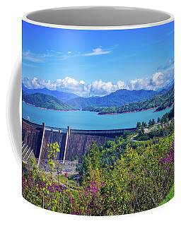 Springtime At Shasta Lake Dam Coffee Mug