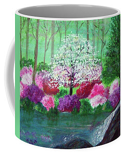 Coffee Mug featuring the painting Springtime Azaleas In Georgia by Sonya Nancy Capling-Bacle