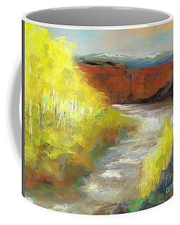 Coffee Mug featuring the painting Springtime In The Rockies by Frances Marino
