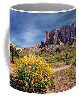 Springtime In The Superstition Mountains Coffee Mug by James Eddy