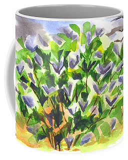 Coffee Mug featuring the painting Springtime Lilac Abstraction by Kip DeVore