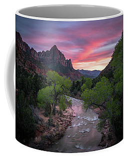 Coffee Mug featuring the photograph Springtime Sunset At Zion National Park by James Udall