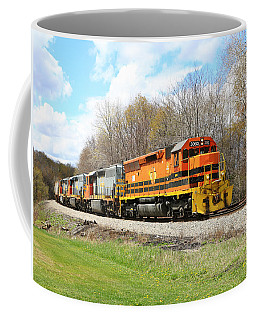 Coffee Mug featuring the photograph Springtime Train by Rick Morgan