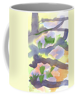 Coffee Mug featuring the painting Springtime Wildflower Camouflage  by Kip DeVore