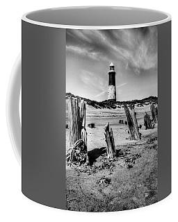 Spurn Point Lighthouse And Groynes Coffee Mug