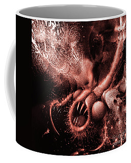 Coffee Mug featuring the digital art Squamafly Red by Russell Kightley