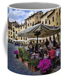 Square Amphitheater In Lucca Italy Coffee Mug by David Smith