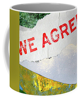 Coffee Mug featuring the mixed media Square Collage No. 7 by Nancy Merkle