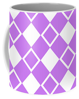 Coffee Mug featuring the digital art Square Diamond Pattern - Custom Color by Mark E Tisdale