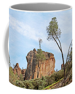 Coffee Mug featuring the photograph Square Rock Formation by Art Block Collections