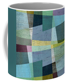 Coffee Mug featuring the digital art Squares And Shims by Michelle Calkins