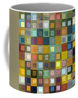 Squares In Squares Five Coffee Mug by Michelle Calkins