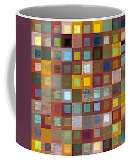 Squares In Squares Four Coffee Mug by Michelle Calkins